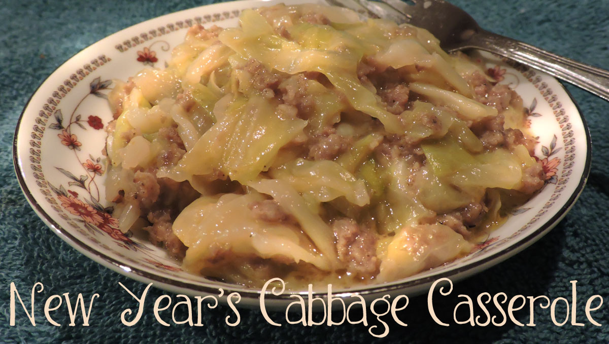 Cabbage-sausage casserole brings luck for the New Year